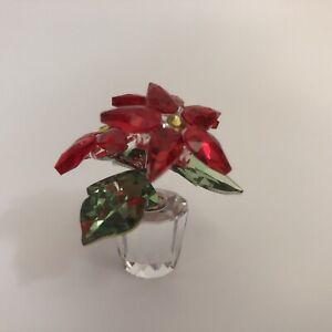 Swarovski Crystal Small Poinsettia Figurine