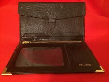Brand New! TOP GRAIN LEATHER ZIPPERED Wallet/COIN POCKET/CHECKBOOK COVER; UNISEX