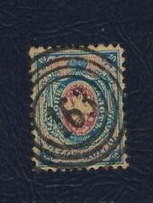 Poland first stamp, 1860 Fi:# Wiewiec/ Brzeźnica (Kościelna) 163 used