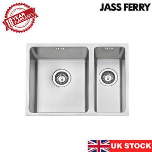 JASSFERRY Undermount Stainless Steel Kitchen Sink 1.5 Square Bowl 590 X 440 mm