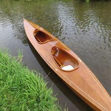 1967 Vintage Double K2 Wood Veneer Kayak. Restored. Canoe. Sea Kayak