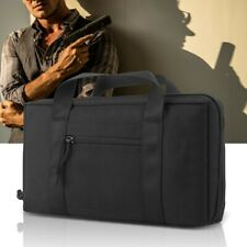 Tactic Pistol Handgun Carry Case Padded Bag Shooting Range Magazine Pouch Black