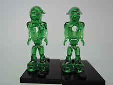 Lego 2 x Alien mm001 Transp. verde Mars Mission set 7690 7691 7644 7645 7646