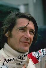 Arturo Merzario Firmato a Mano 12x8 photo formula 1.