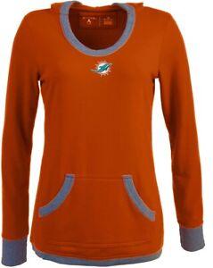 Antigua Miami Dolphins Women's Vibe Orange Hooded Sweatshirt