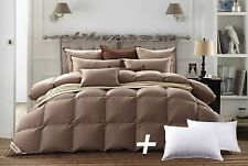 Snowman Comforter King Size 800 FP and Goose Feather Pillow 2pcs, Hypoallergenic