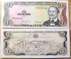 "BILLETE "" REPUBLICA DOMNICANA "" 1 PESO DE ORO AÑO : 1987 UNC PLANCHA"
