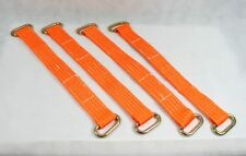 Vehicle Recovery Link Strap Wheel Bridging Oval Rings Trailer Transporter x 4