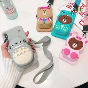 3D Sally Bear Airpod Wallet Soft Phone Case For iPhone 11 Pro X XS Max XR 6 7 8