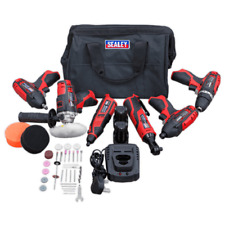 Sealey CP1200COMBO2 12v Cordless 6 Piece Tool Kit 2 Batteries Charger + Bag