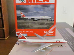 Vintage HERPA Wings 'MEA' Boeing 747-2B4B; 1:500; Excellent Condition!;