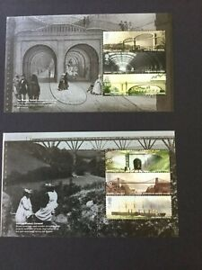 GB MNH 2006 BRUNEL 3 Booklet Panes from Booklet - DX36
