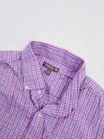 Mens PETER MILLAR Summer Comfort MULTICOLOR Plaid Longsleeve Golf Shirt Large L