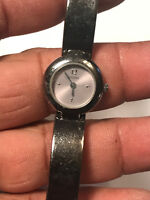 Nice Ladies Dark Silver Tone Guess Analog Watch