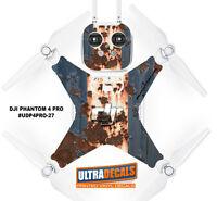 Rusted Paint DJI Phantom 4 Pro Skin Wrap Decal Sticker Battery Body Ultradecal