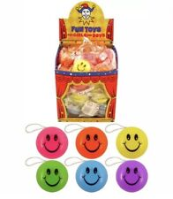 72x SMILEY FACE YOYO YO-YO RETURN TOP PARTY BAG LOOT FILLER PRIZES UK SLR