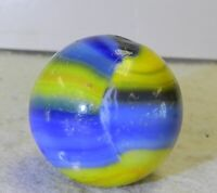 #10734m Large .97 Inches Vintage Marble King Rainbow Cub Scout Shooter Marble