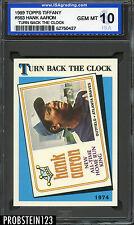 1989 Topps Tiffany #663 Hank Aaron Atlanta Braves ISA 10 GEM MINT