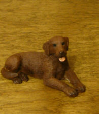 Castagna Mini Dog Figurines #366C CHOCOLATE LABRADOR,  Made in Italy NEW/Box