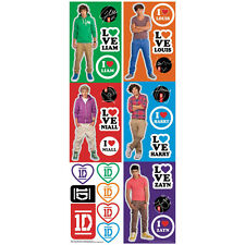 1 DIRECTION wall stickers 27 decals Louis Harry Zayn Liam Niall decor boy band