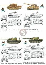 Peddinghaus 1/35 Jagdtiger Markings s.Pz.Jg.Abt.653-512 1945 WWII (4 tanks) 2595