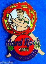 HONOLULU HAWAIIAN FIRE KNIFE TRIBAL WARRIOR COMBAT DANCE Hard Rock Cafe PIN