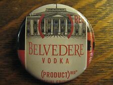 Belvedere Red Product Polish Vodka Label Advertisement Pocket Lipstick Mirror
