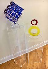 """2 Clear Acrylic Pedestals 12"""" SQ X 36""""High (1/4"""")"""