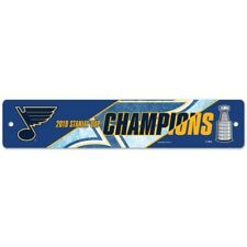St Louis Blues Wincraft 2019 NHL Stanley Cup Champions Street Sign 3.75x19