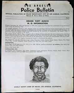 Isaac Hayes Music Band Scam orig 1974 Los Angeles California Police Bulletin