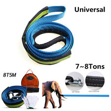 Car Tow Cable Rope Heavy Duty Emergency Road Recovery Straps 5M 8Ton With Hooks