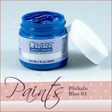 Genesis Paint Phthalo Blue 03 fl oz For Reborn ~ Reborn Doll Supplies