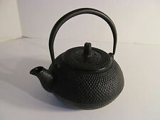 VINTAGE JAPANESE BLACK CAST IRON HOBNAIL TEA POT