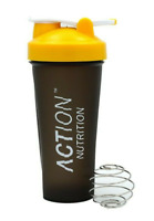 Action Nutrition™ Yellow Protein Shaker Bottle with Mixing Ball