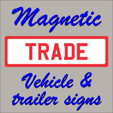 Vehicle grade magnetic vehicle signs red on white  470mm x 140mm