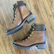 Pikolinos ASPE W97 BRANDY Ankle Boots Cognac Leather Lace-Up 37, 6.5 - 7 $225