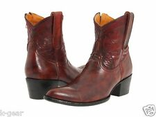"OLD GRINGO Polo Zipper Womens Size 7.5 Western Leather Boots 7"" Red/Jurassic NEW"