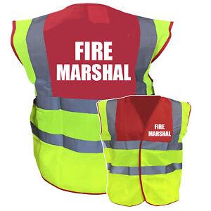 Fire Marshal Red / Yellow Two ToneHi Vis Safety Vest / Hi Viz Waistcoat