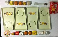 Huge Lot of Vintage McDonald's Items 1970s Happy Meal Trays Transformers Dinos