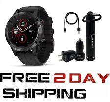 Garmin Fenix 5 Plus Sapphire GPS Watch Wearable4U Power Bundle, 010-01988-00