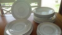 Vintage Dinnerware set by Royal China USA Beige Gold design s/6 18 pieces 1950s