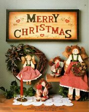 Tole Painting Country Lovin' Warm 'N Cozy by Pat McClure Shelf Doll, Christmas