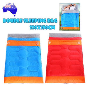Outdoor Camping Double Sleeping Bag Tent Hiking Thermal Winter -10°C 220x150cm