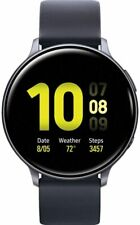 Samsung Galaxy Watch Active2 Silicon Strap Aluminum Bezel Bluetooth - Aqua Black