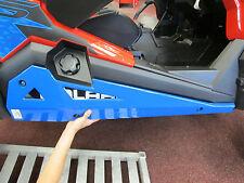 Pure Polaris Blue Low Profile Rock Sliders RZR1000 RZR900 RZR900S Turbo 2014-20