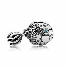 Genuine Silver PANDORA Topaz Blue Angel Fish Charm 791108TPP S925 ALE.