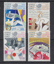 CYPRUS MNH STAMP SET 1988 OLYMPIC GAMES SEOUL SG 722-725