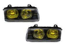 French Edition Yellow Glass Lens DEPO 92-99 BMW E36 Euro Projector Headlight Set