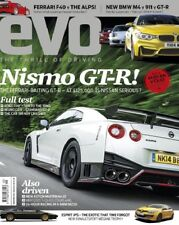 NEW EVO CAR MAGAZINE NISMO GT-R FERRARI F40 BMW M4 SEPTEMBER 2014