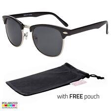 e7514176b72c6 Polarized club-master Sunglasses Vintage Designer Metal Half Frame Free  Pouch l